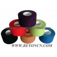 Wholesale Color Pack Cotton Adhesive Sports Rigid  Strapping Tape Athletic Trainer's Tape from china suppliers