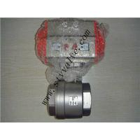Wholesale CE approved 2pc screwed stainless steel ball valve with pneumatic actuator from china suppliers