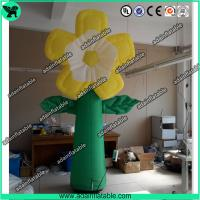 Wholesale Summer Holiday Event Party Decoration Inflatable Yellow Flower With LED Light from china suppliers