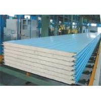 Buy cheap Polyurethane Composite Color Coated Corrugated Metal Roofing Sheets Class B Fireproof And Light Weight from Wholesalers
