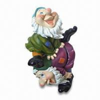 China Polyresin Garden Dwarf/Gnome Decoration, OEM Designs and Sizes are Accepted on sale