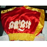 Wholesale muay thai shorts , Red and Yellow from china suppliers