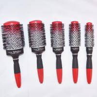Red Rubber Handle Round Hair Brush Combing the Hair in Any Direction without Tangling for sale