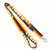 Wholesale Metal Egg Hook Plastic Buckle Custom Polyester Lanyards , Three Color Lanyard from china suppliers