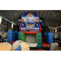 China Durable Monster Truck Inflatable Slide / Digital Printing SUV Expedition Car Dry Slide for sale