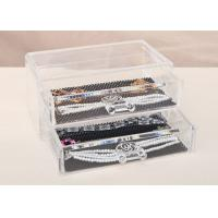 Wholesale Two Drawers Jewellery Organizer Box Plastic Crystal PS 198 x 102 x 93mm from china suppliers