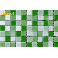 Wholesale Wearable Crystal Backsplash Mirror Green And White Mosaic Tiles For Home from china suppliers