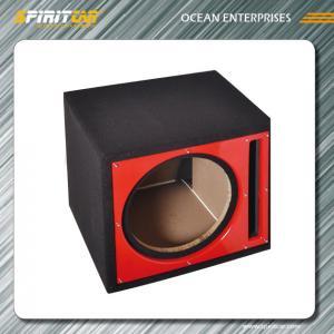 China Carpet vented 15 Car Speaker Enclosures , black / grey single subwoofer box on sale