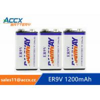 Wholesale fire detector battery 9v 1200mAh long self life more than 10 years with high quality from china suppliers