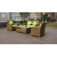 Wholesale KD 4pcs cheap garden sofas outdoor rattan sofa as customized color from china suppliers