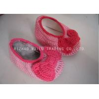 Knot Seam Binding Baby Girls Shoes Milk Cotton Pink Knitted Shoes For Babies