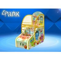 Cute Bear Design Arcade Basketball Game Machine For Game Center 1 To 2 Player for sale