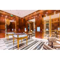 Wholesale Jewelry Mall Store Interior decoration by Cherry wood wall panel with Stainless steel display counters from china suppliers