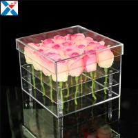 Wholesale Durable Square Acrylic Flower Box Makeup Organizer Rose Storage Cosmetic Case from china suppliers