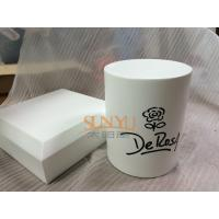 Quality Square White MDF Display Stands Cylinder Shape 140×140×40 mm With Bevel for sale