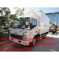 China China famous brand JAC Brand 5tons Refrigerator Freezer for sale, factory JAC 4*2 LHD sale cold room truck for sale for sale