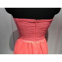 Quality Various Color Strapless Womens Dresses / Tight Fitted Dresses 100% Polyester for sale