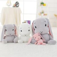 China 3 Colors Rabbit Soft Plush Toys Pp Cotton Stuff With Tightly Sewn Stitches on sale