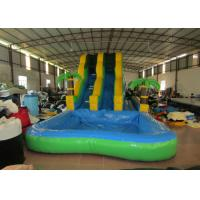 Summer 2017 palm trees inflatable water slide on sales inflatable single slide with water pool for sale