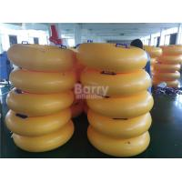 Wholesale Mini Inflatable Water Toys For Adults , Orange Inflatable Swim Ring from china suppliers
