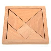 Wholesale 12cm natural beech wood tangram 7 Parts Tangram School Educational Toy from china suppliers
