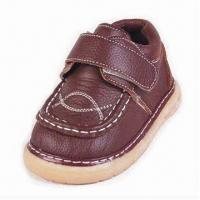 China Genuine Leather Shoes for Boys, with Mesh Lining and Insole on sale