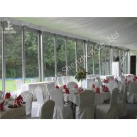 Wholesale Outdoor Glass Wall Canopy Gazebo Party Tent 20 X 25M 300 Seater Clear Span Marquee Hire from china suppliers