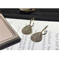 Wholesale Glamorous 18K Gold Diamond Earrings For Company Annual Meeting / Party from china suppliers