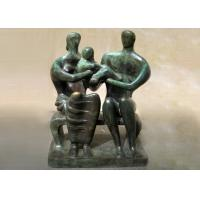 Wholesale Handmade Lovely Family Life Size Bronze Statues Antique Design Customized Size from china suppliers