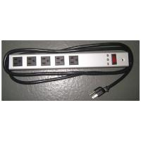 Wholesale Horizontal Surge Protector Power Strip 5 Outlet , Universal Electrical Power Bar from china suppliers