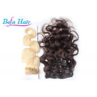 Wholesale Bright Red / White 14 Inch Clip In Hair Extension Brazilian Body Wave Hair Bundles from china suppliers