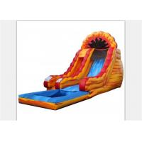 Wholesale 6M Height Yellow Children Outdoor Inflatable Water Slide With Pool from china suppliers