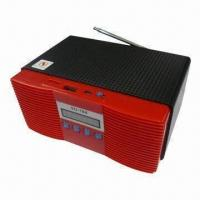 Wholesale FM Radio Wooden Portable USB Speaker with Built-in Active Amplifier from china suppliers