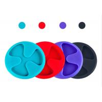 China 3 Inch Dustproof Silicone Cup Cover , Silicone Drink Coasters Mat For Drink And Beverage on sale