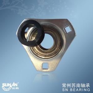 China Three Bolt Stamped Steel Pillow Block Bearings , Sealed Flange Bearing SAPFT206 on sale
