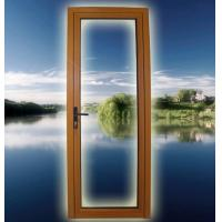 China LM58 alu-wood casement door open outward,1800mm x 2700 mm, with an aluminium consumption of 7.91 kg/㎡. on sale