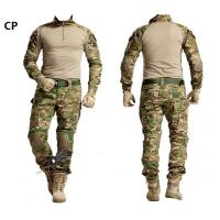 Buy cheap Hunting CP Uniform Combat shirt cargo multicam paintball Army Tactical Uniform with pads from wholesalers