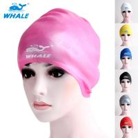 Quality Light Weight Durable Silver Swimming Head Cap With Ear Protect Design for sale