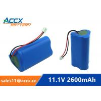 Quality 18650 11.1V 2600mAh li-ion battery pack with pcm protection for sale