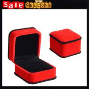 China Customize Luxury Red Sponge Square Jewelry Gift Box Wholesale,Jewelry Box Widget Gift Box on sale