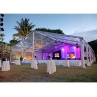 Wholesale Elegant Banquet Wedding Party Tent Clear Roof Top Hot Dip Galvanized Steel from china suppliers