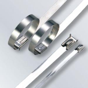 Buy cheap Self Locking Stainless Steel Wire Ties Large Tie Wraps 4.6mm Width Waterproof from wholesalers