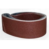 China Steel Aluminum Oxide Narrow Sanding Belts / Grit P36 To Grit P180 on sale