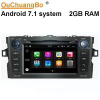 Quality Ouchuangbo car audio 1024*600 android 7.1 for Toyota Auris 2008-2011  with bluetooth gps navi 1080P Video for sale