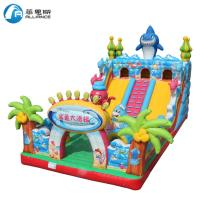 Wholesale Waterproof Inflatable Shark Slide Inflatable Jumping Bouncer Castle from china suppliers