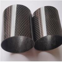 Wholesale carbon mix glass fiber pipe/tubes with 3K plain or 3K twill surface 50% carbon +50% glass fiber tube from china suppliers