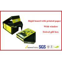 Swivel Two Layers Rigid Board Gift Packaging Boxes , Customized Packaging Boxes