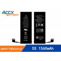 Quality ACCX brand new high quality li-polymer internal mobile phone battery for IPhone 5S with high capacity of 1560mAh 3.8V for sale