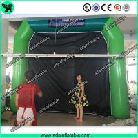 High Quantity Green Inflatable Paint Booth, PVC tarpulin Inflatable Booth Tent