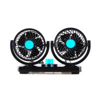 China Car Dashboard Fan / Universal Car Accessories Dual Head 2 Speed 12V Cooling Air Circulator on sale